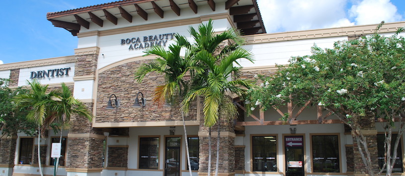 The outside of Boca Beauty Academy's Parkland campus.