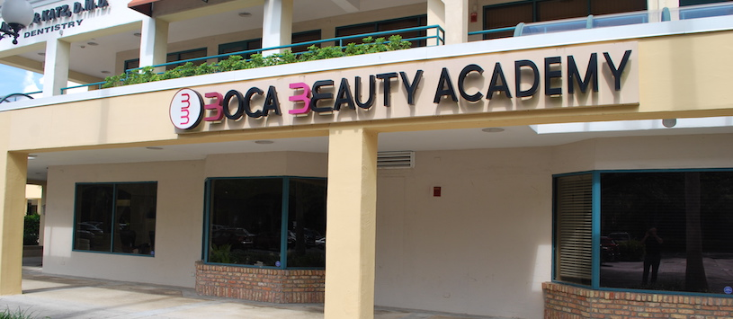 The outside of Boca Beauty Academy's Boca Raton campus.