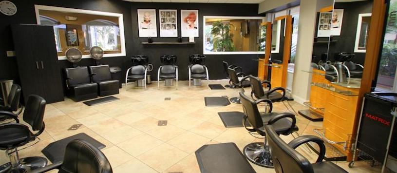 Empty beauty salon.