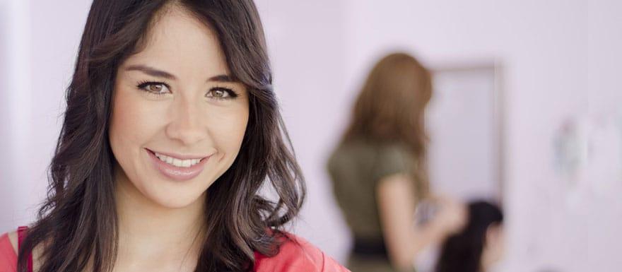 Female cosmetologist in a salon